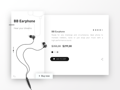 Earphone Product Page