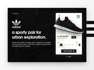 Adidas eCommerce Page