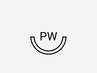 PW LOGO CONCEPT vector branding clean typography design type sign logo designisjustform
