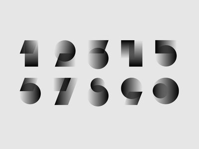 Numbers designisjustform numbers sign type logo