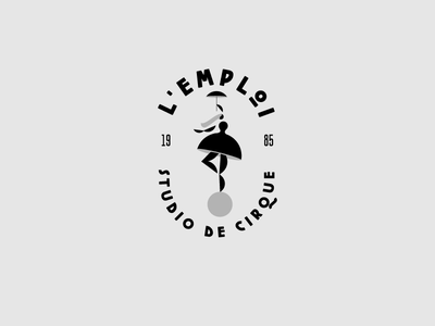 Lemploi circus logo type typography design logo sign designisjustform