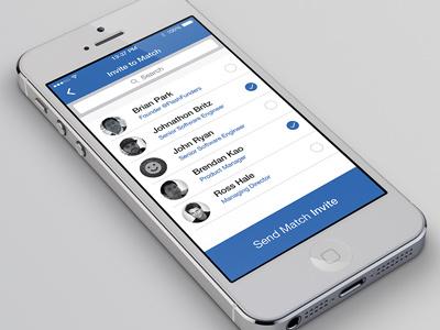 Invite Screen mobile ios invite