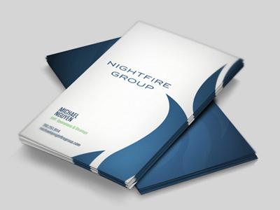 Nightfire Group Business Cards business cards branding identity