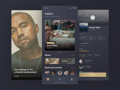 Freebie-dark-Rebound streaming song sketch product music mobile iphonex ios freebie app album