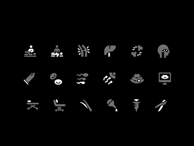 Medical Icon Set medical mark healthy logo illustration identity icons icon drawing branding