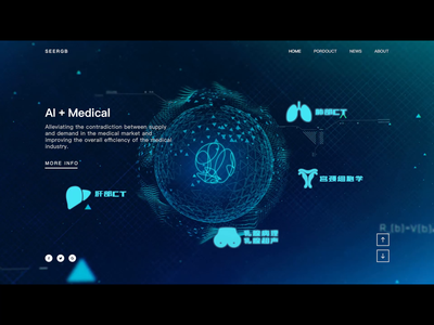 Video background medical care homepage index banner ad hero ai video