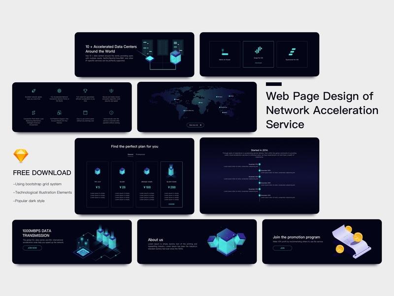 Web page UI kits icon ui dark hero banner bootstrap app