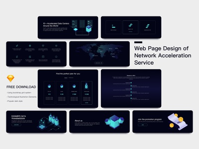Web page UI kits icon ui dark hero banner bootstrap app