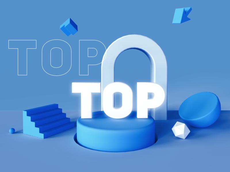 TOP Light 3d 3d art 3d clean app icon ui web