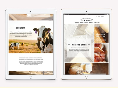 Tomales Bay Farms website ui ux web