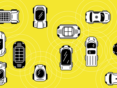 Connected Cars illustration graphic design