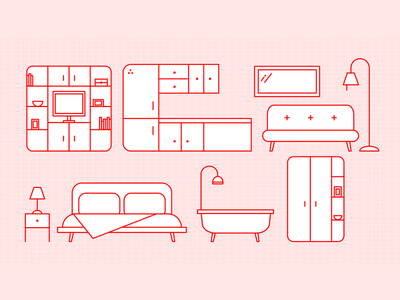 Connected Home illustration graphic design