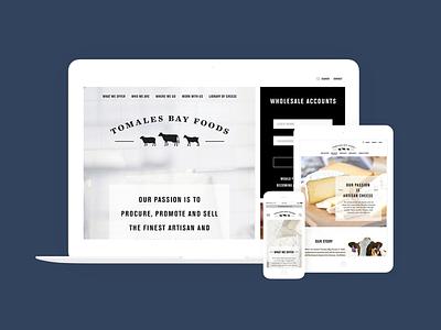 tomales bay foods web design branding design web design