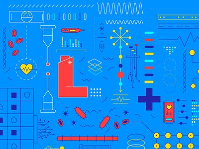 Pharmacies Of The Future vector data-viz illustration graphic design