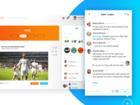 Sports Social Network: Feed and Chat detail