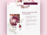 Florist Homepage Concept