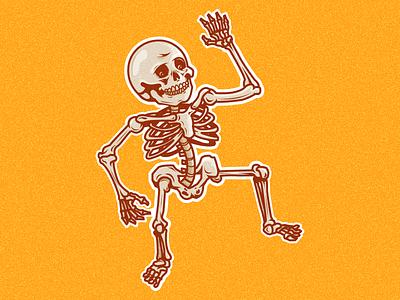 Skellington dribbbleweeklywarmup spooky halloween skeleton illustration vector