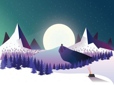 Merry Christmas from Inktrap! vector arctic merry christmas winter penguin illustrator print card christmas