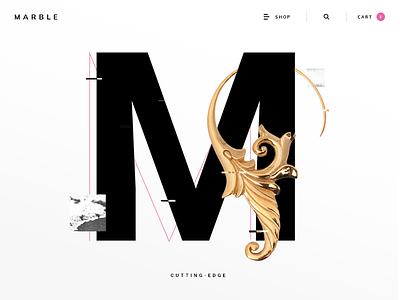 Marble M ux static ecommerce m earring jewelry elegant grunge marble