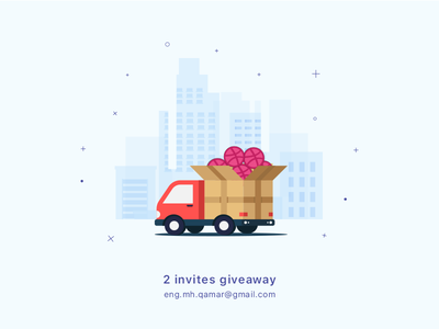 Dribble Invitation 3 illustration ball welcome new member invitation giveaway gift firstshot dribbble draft debuts
