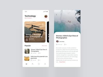 Technology App Screens