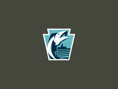 Government Fishy. mark icon branding concept covid agency government keystone boat fish