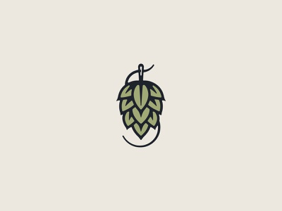 Secret Hop Logo illustration farms needle thread drink logo brewery logo branding local brewery beer