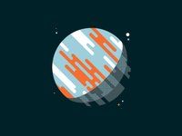 Skillshare Project - DKNG Class Planet dark blue orange patterns halftones space planet skillshare dkng