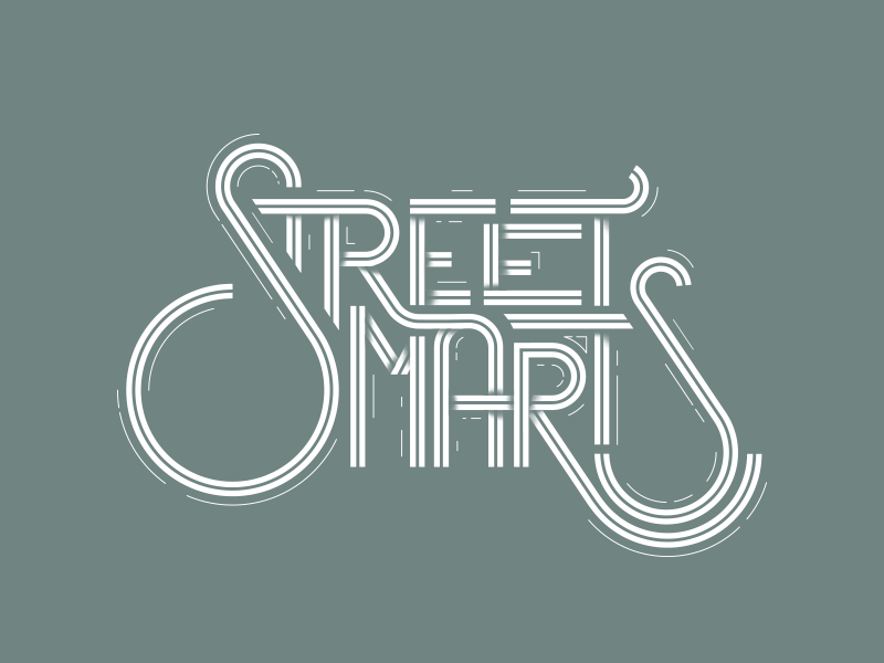 Street Smarts road s smarts street lettering type
