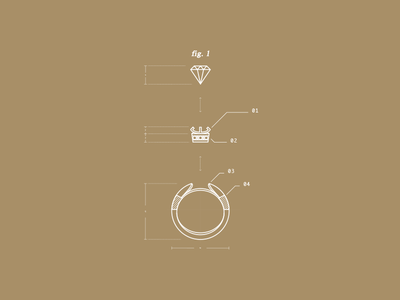 WIP - Ring Blueprint wip marriage wedding diamond lines series icon size figures blueprints gold ring
