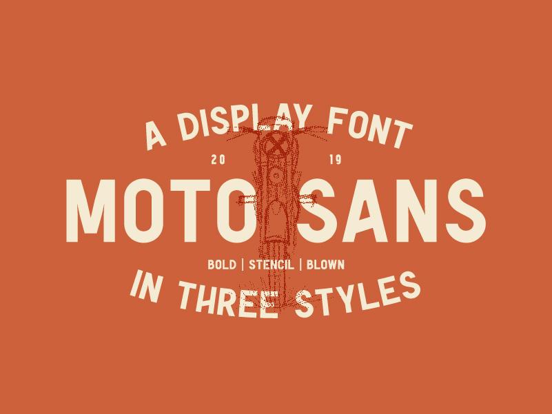 Moto Sans - Display Font moto sans type sans serif motorcycle moto font