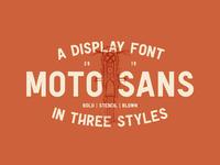 Moto Sans - Display Font