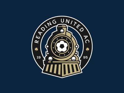 Reading United AC Rebrand rebrand clover ball pro crest logo sports train futbol