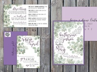 Earthy Wedding Invitation Suite