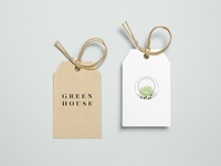 Green House label design
