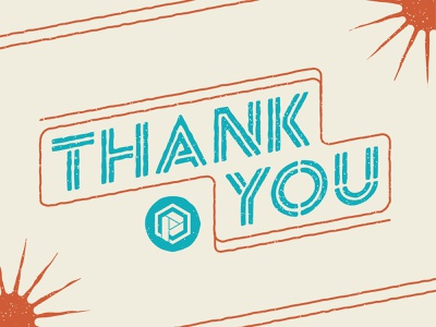 Thank You lines rough high school summer sun vector illustration colors typography vector texture