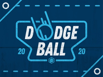 Dodgeball blue typography type illustration vector illustration dodge rough fun sports high school ball vector design dodgeball