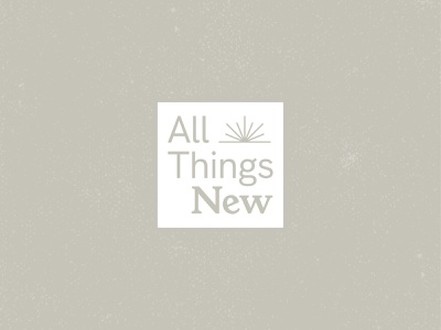 All Things New grit church white new life sun serif texture vector typography type