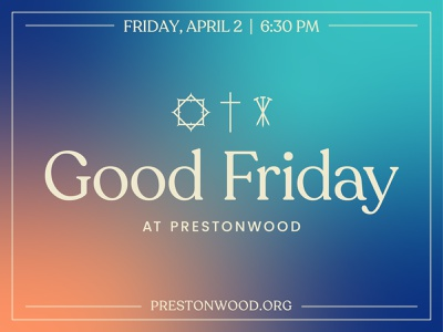 Good Friday 2021 sermon art church easter good friday typeface gradient vector