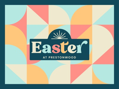 Easter 2021 palm sunday good friday colors branding church branding church design typography geometric vector church sermon art easter
