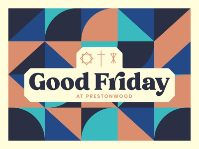 Good Friday 2021 palm sunday colors branding church branding church design typography geometric vector church art sermon art easter good friday