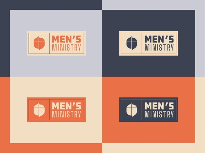 Men's Ministry Logo church branding vector type typography colors masculine ministry men logo design church design church