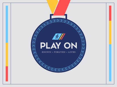 Play On 2 olympic medal vector art adventure week typography fonts icon church branding colors church logo vector vbs