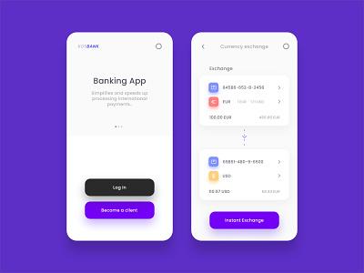 KOSBANK mobile bank user interface ui app uiux