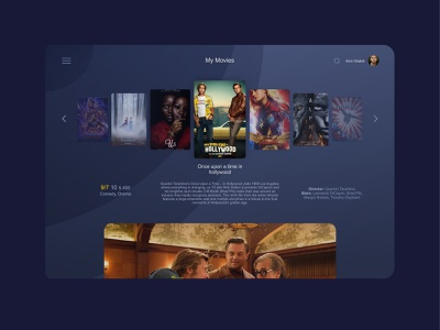 Dashboard imdb web panel uiux dashboard