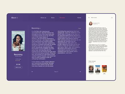 Book review website webdesign design ui book web amirghaleh uiux
