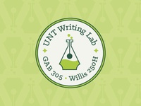 UNT Writing Lab Logo Proposal logo circle science school campus lab writing unt