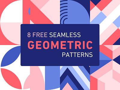 Free Seamless Geometric Patterns shutterstock background blue pink seamless geometric free pattern