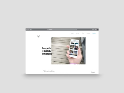Timepage - Tablet magazine website website design tablet magazine magazine tablet web design clean design web webdesign website minimalist rakowski rakowski studio