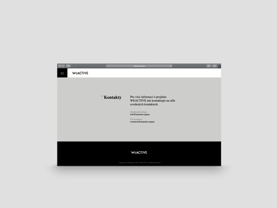Webdesign end of site design web design clean design web webdesign website minimalist rakowski rakowski studio